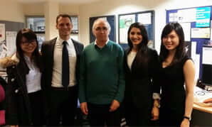 Left to right: Amanda Yeo, Alexander Katznelson, Professor Bob Watt, Shida Azari, Chi Ng