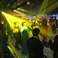 A group of students on a dance floor