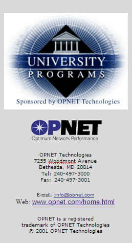 Opnet logo and information