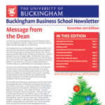 Business School Newsletter December 2011
