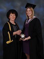 Polly Victoria Richards with Chloe Woodhead at Graduation 2012