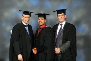 Avijit Guha Roy with Mr Shenfield & Mr Lewis