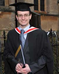 Daniel Pilbeam at Graduation