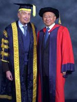 Dr Lee Suan Yew with Sir Martin Jacomb