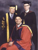 Steven Redgrave, Sir Martin Jacomb and Tom Merrick
