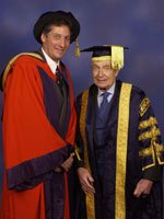 Dr Stephen Bolsin with Sir Martin Jacomb