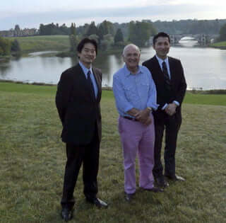 Anthony-Glees and Japanese professors at Stowe