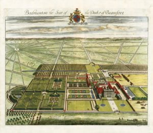Drawing of Badminton House & grounds