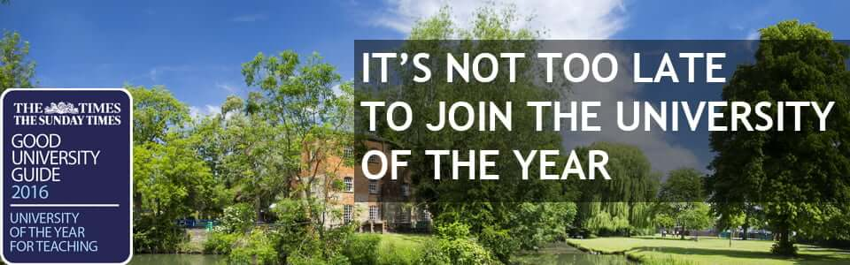 It's not too late to join the University of the Year