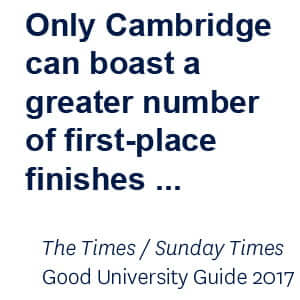 Only Cambridge can boast a greater number of first-place finishes