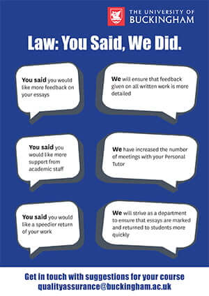 NSS Law: You Said, We Did