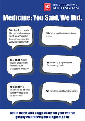NSS Medicine: You Said, We Did