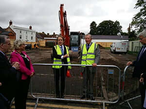Sir Anthony Seldon and Lord Vinson at the groundbreaking ceremony