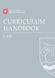 Curriculum Handbook - Law