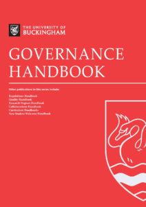 Governance Handbook - University of Buckingham