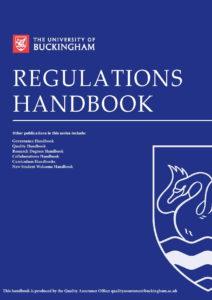 Regulations Handbook - University of Buckingham