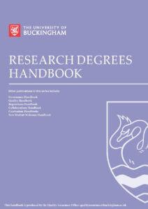 Research Degrees Handbook University of Buckingham