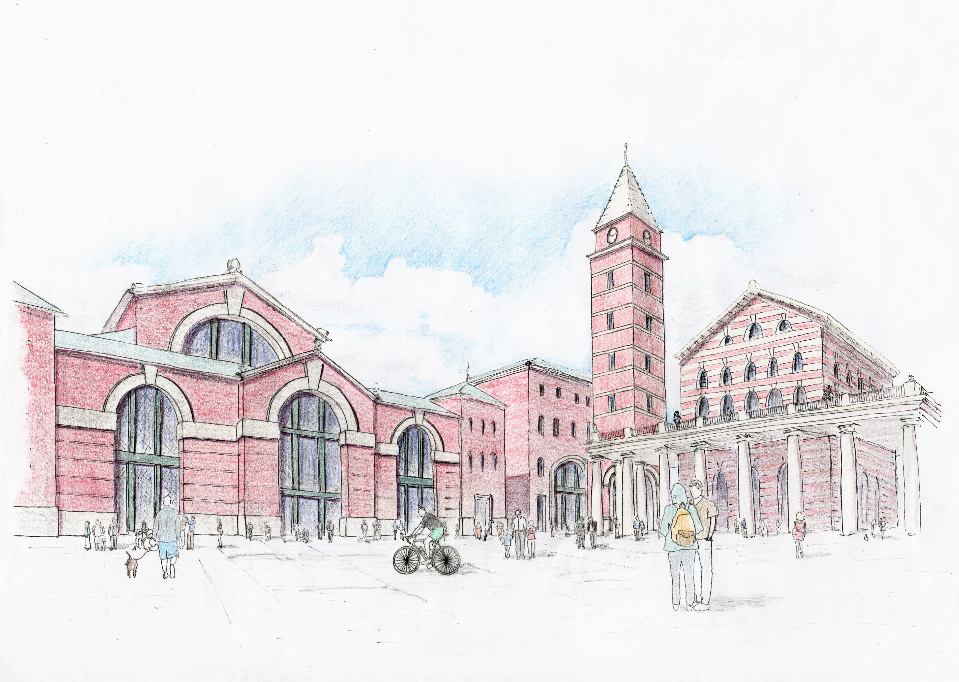 View of the proposed Main Square outside Euston Station