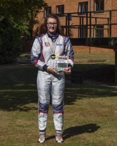 Abi Birch with medal