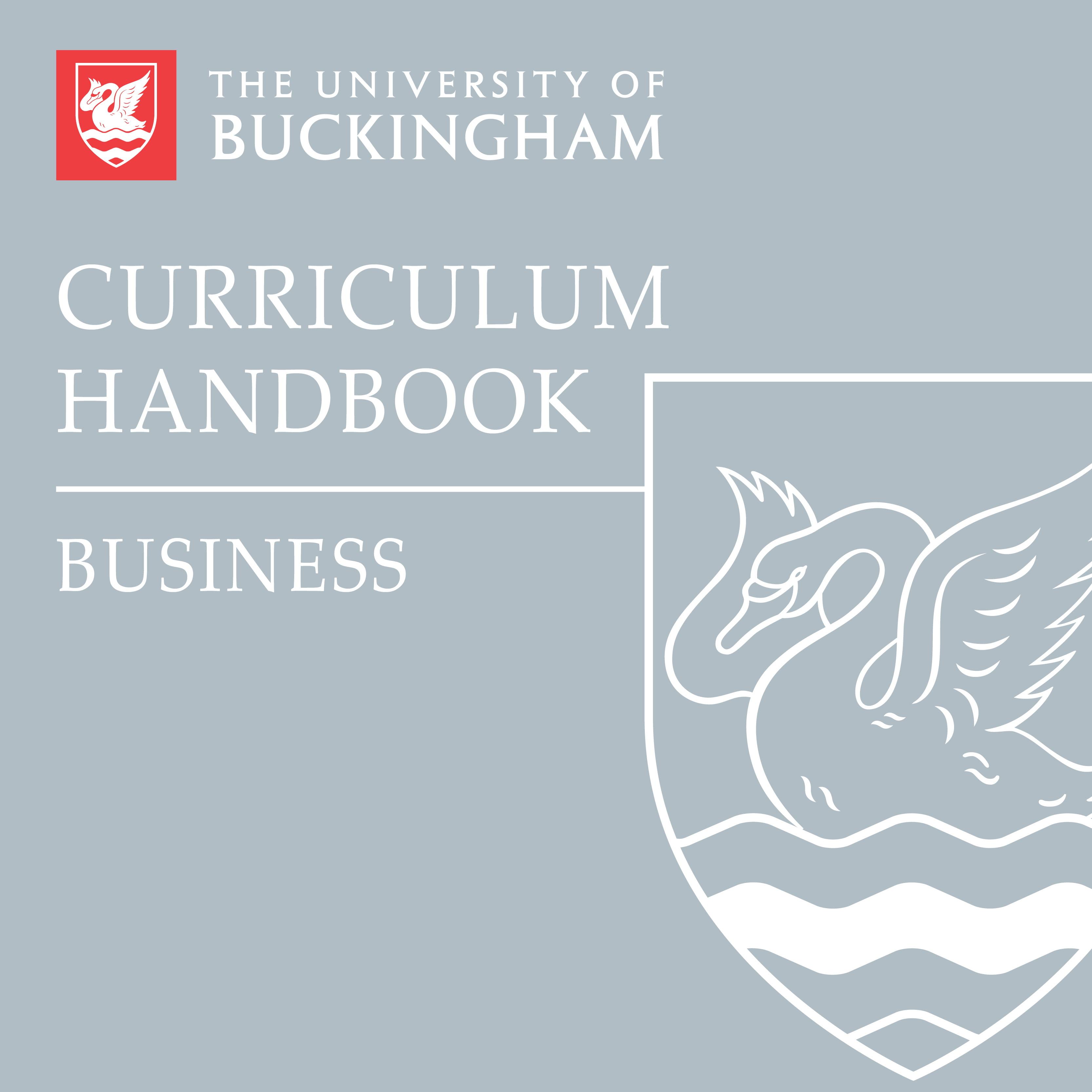Curriculum Handbook - Business - front cover - online