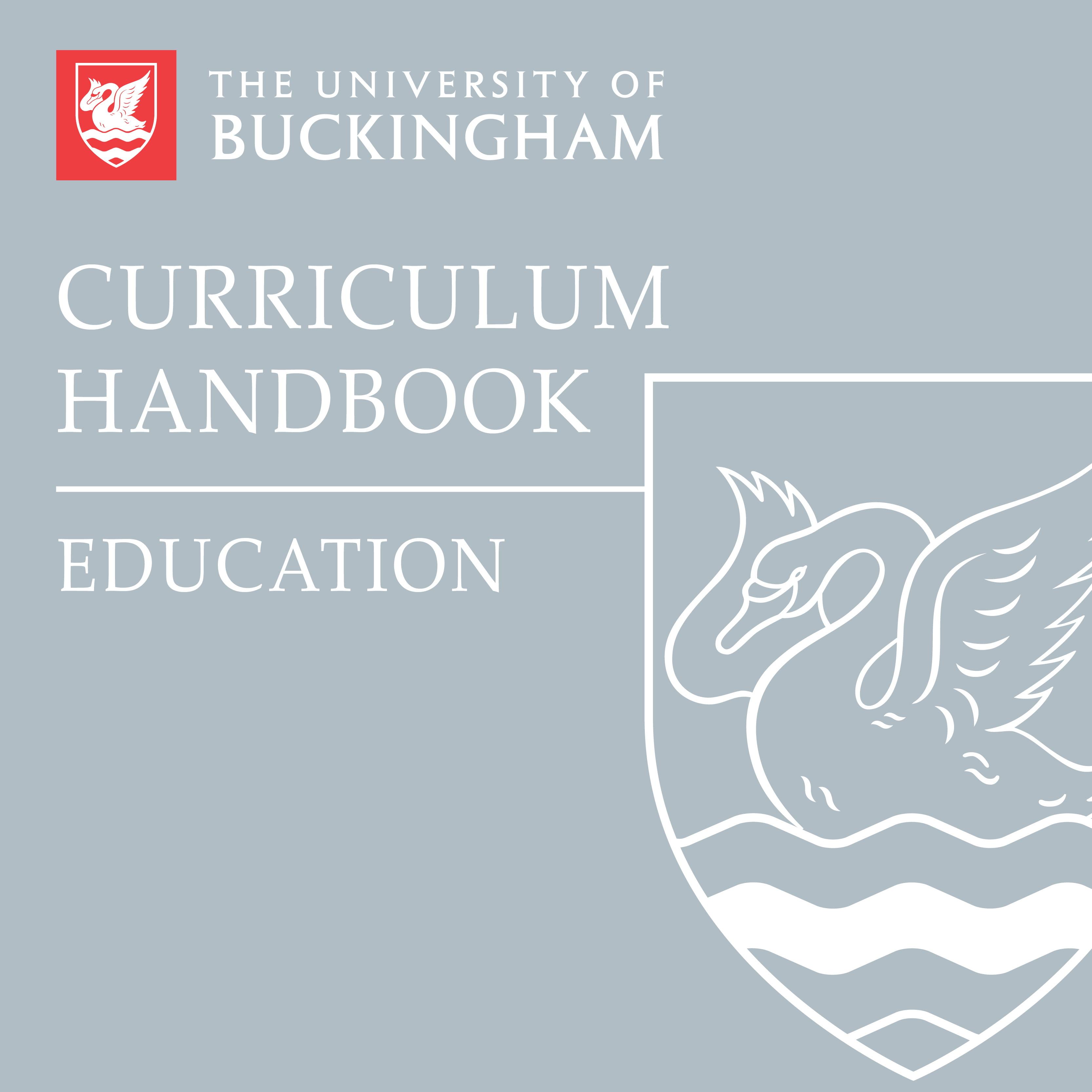 Curriculum Handbook - Education - front cover - online