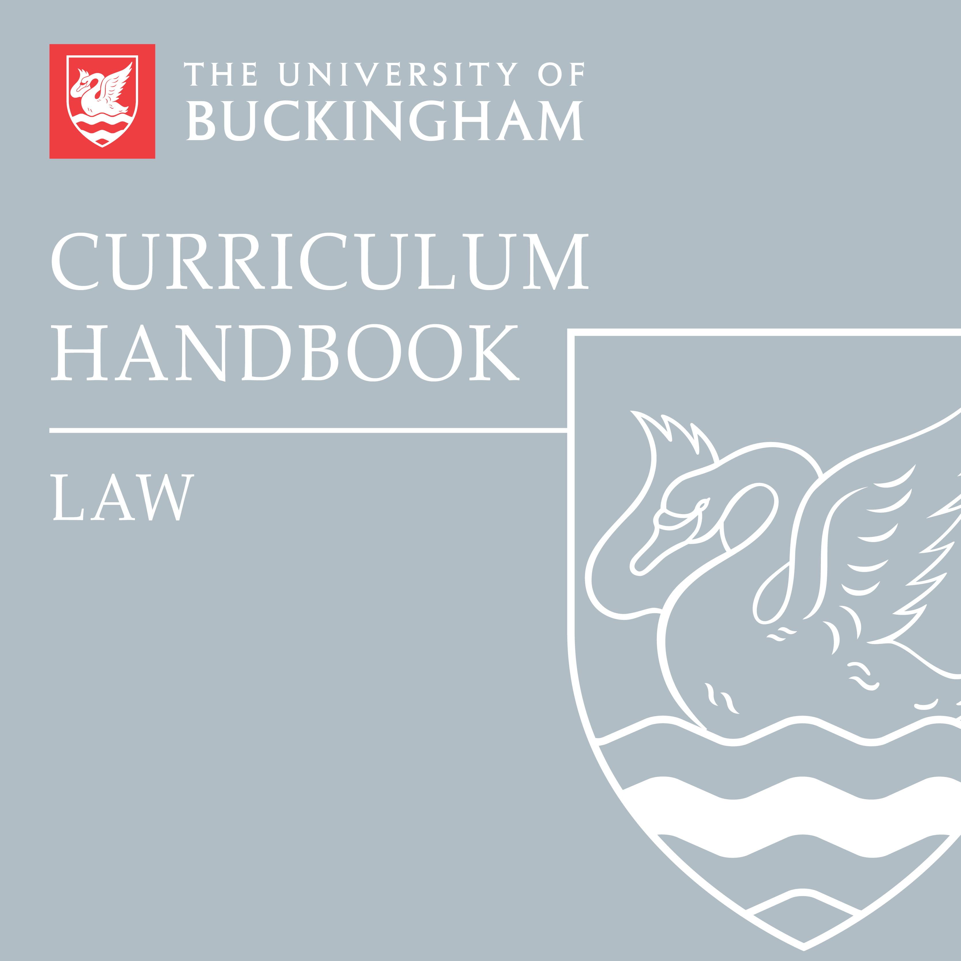 Curriculum Handbook - Law - front cover - online