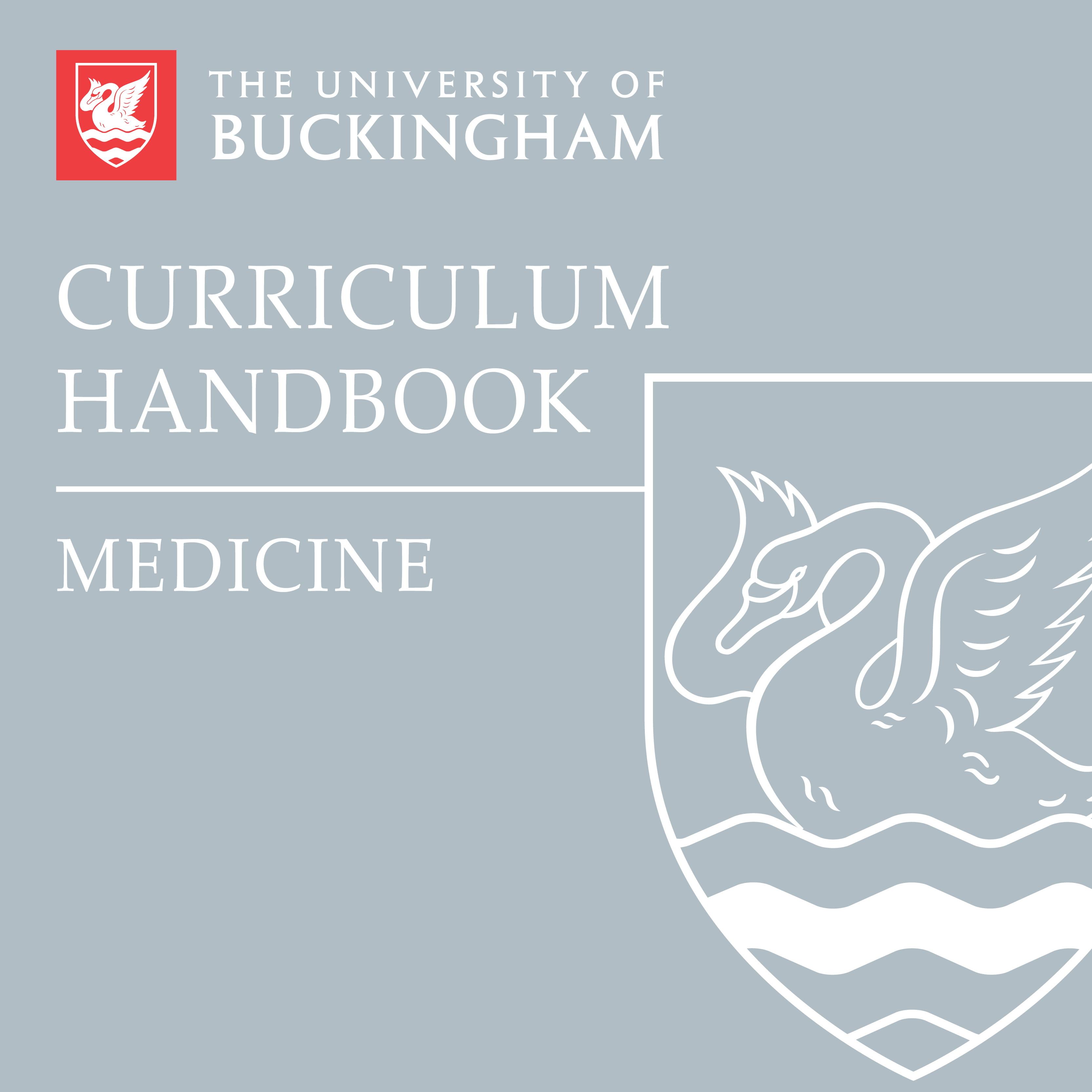Curriculum Handbook - Medicine - front cover - online