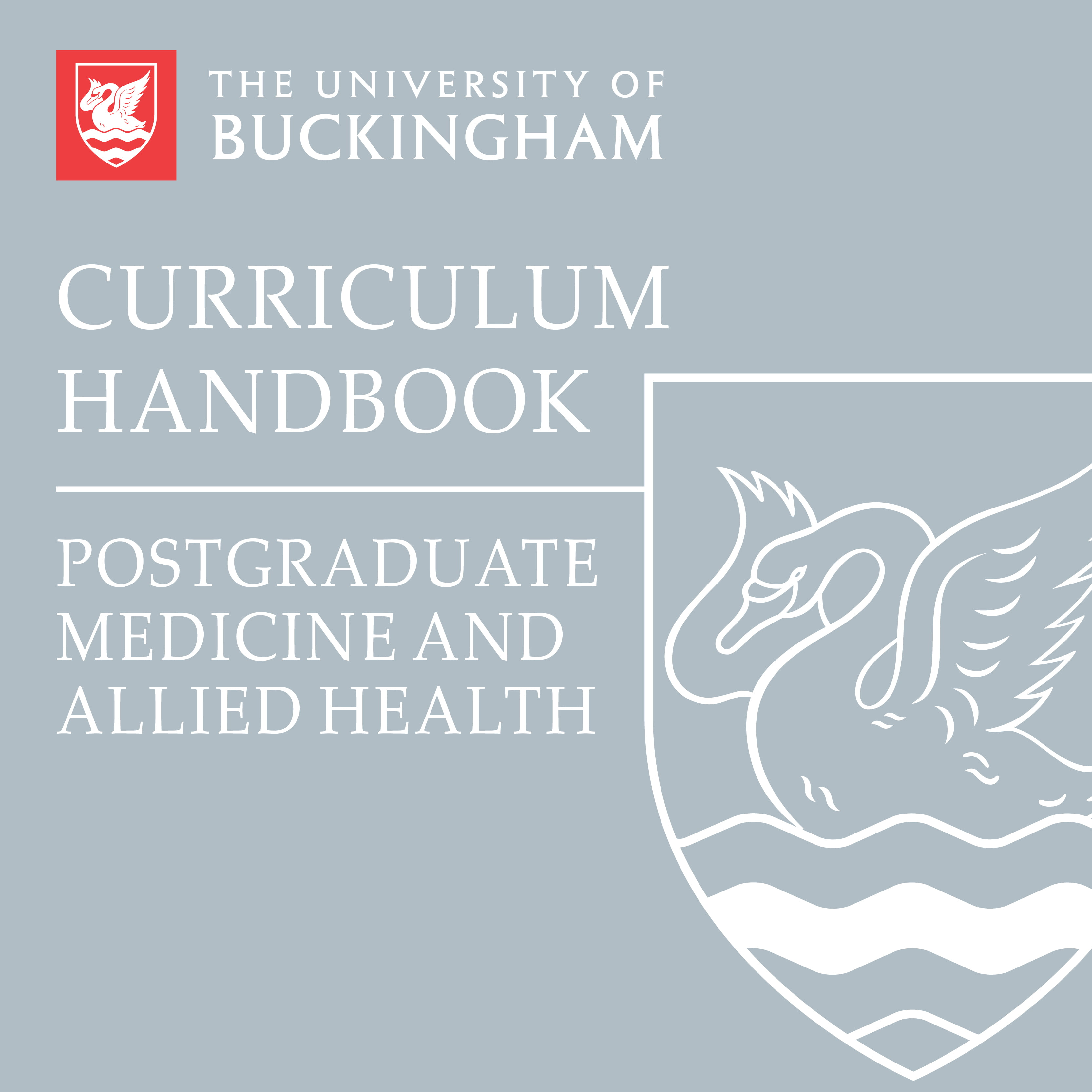 Curriculum Handbook - PG Medicine and Allied Health - front cover - online