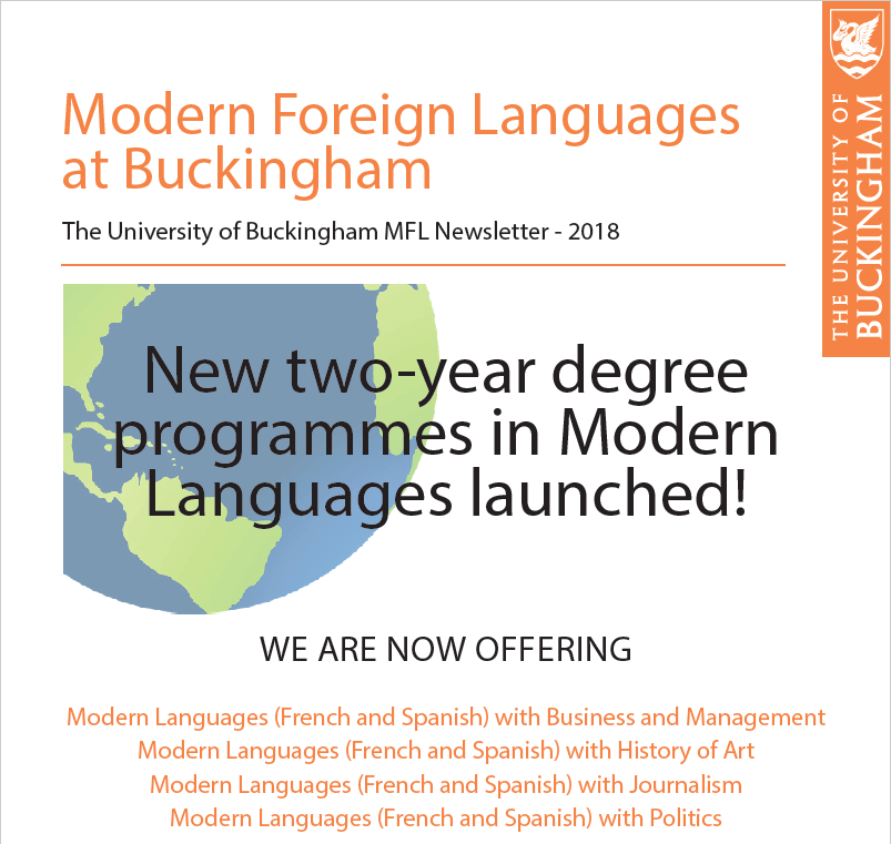 Modern Foreign Languages 2018 newsletter