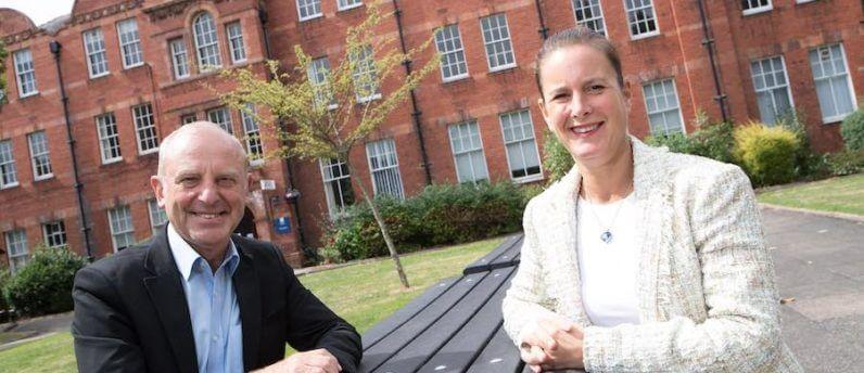 Karol Sikora and Amanda Weston at Crewe campus