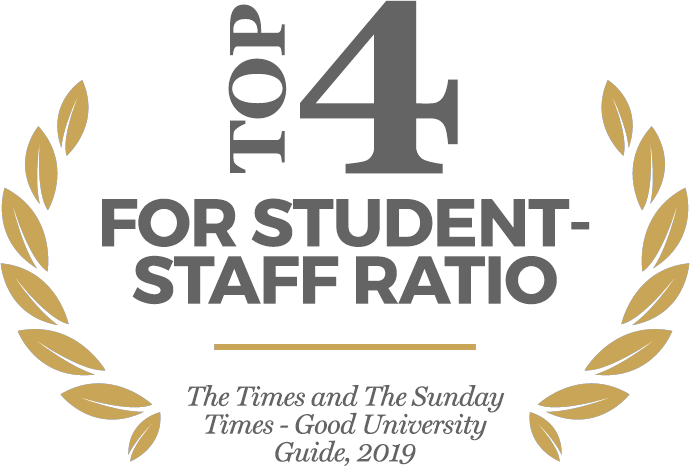 Top 4 for student-staff ratio