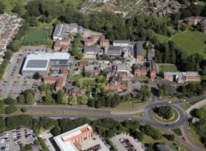 Crewe campus aerial view