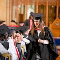 Graduation high five