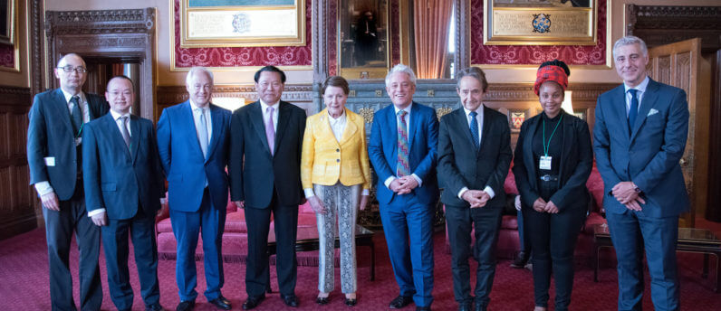 Dr Chung and guests at the Speaker's House