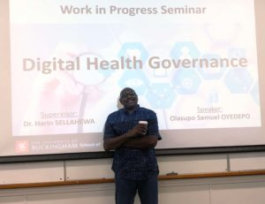 Olasupo Oyedepo discussing Digital Health Governance