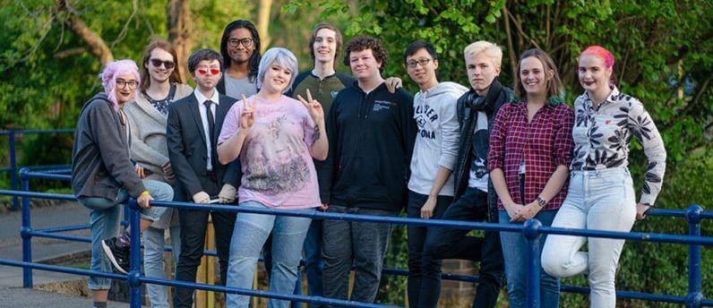 group photo of computing society students
