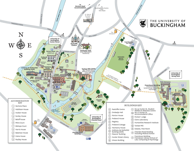 Campus Map | University of Buckingham on
