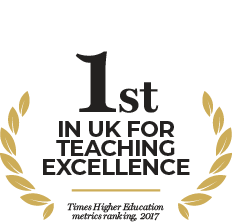 1st in the UK for teaching excellence - Times Higher Education metrics ranking 2017
