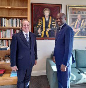 James Tooley, Vice-Chancellor with Ade Osibogun